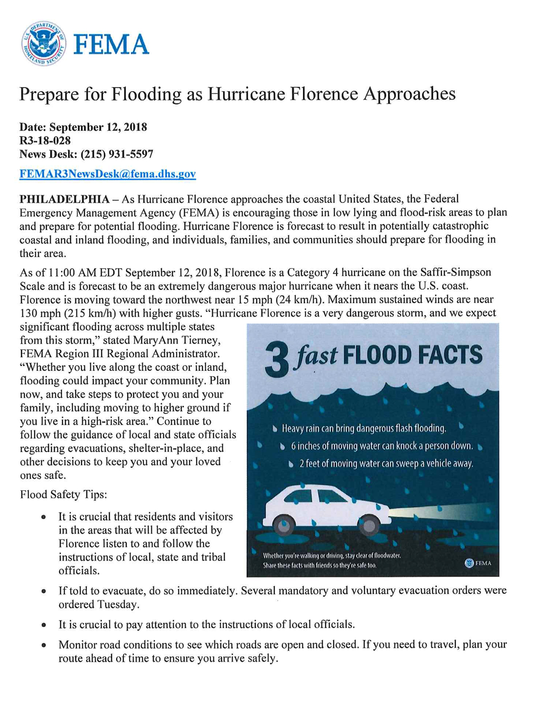 fema flood preparation